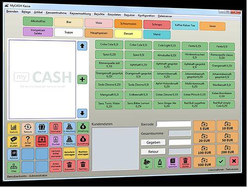 myCash - die Registrierkasse mit integrierter Warenwirtschaft!