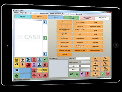 Die myCash Registrierkasse ist individuell und auch auf Tablets einsetzbar!
